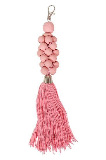 Wooden Keychain Beads Pink
