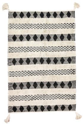 Gewoven Kleed Boho Zwart 120x180cm