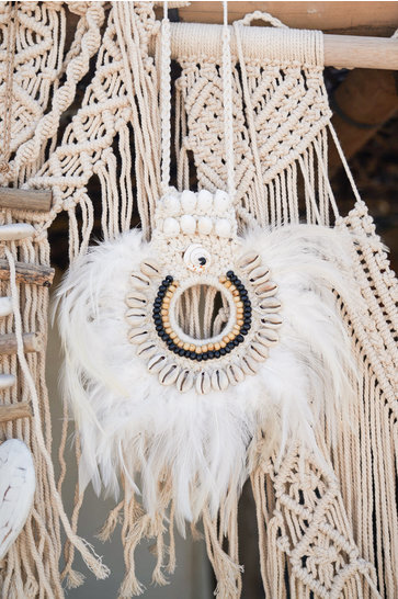 Federanhänger Bali Weiß
