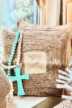Jute Cushion Kotak Natural