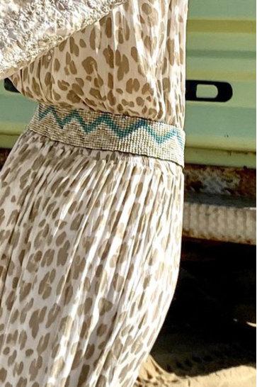 Gürtel Perlen Aztec Natural