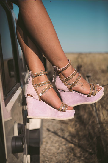 Wedge heel Selena Old Pink