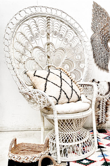 Bohemian Rattan Chair White