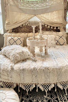 Tagesdecke Marrakesch Weiß