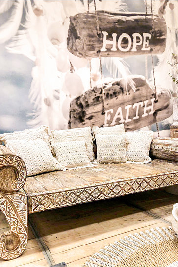 Balinese Lounge Sofa Natural