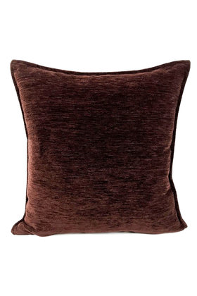 Throw pillow Dark brown 45x45cm