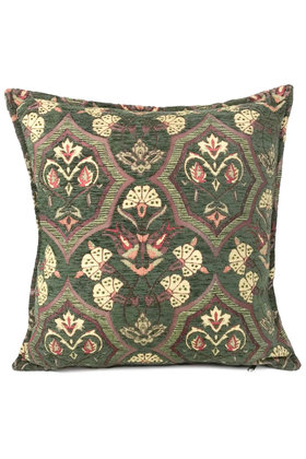 Throw pillow Flowers Army green 45x45cm