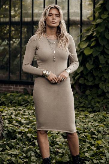 Kurzes Kleid Seanna Beige