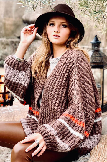 Knitted Cardigan Neva Brown