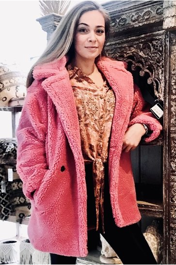 Teddy Coat Nova Pink
