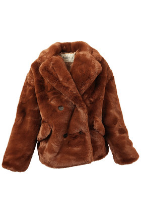 Coat Fluffy Brown