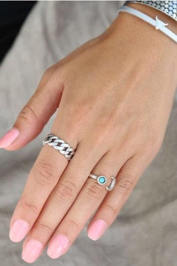 Ringkette Silber