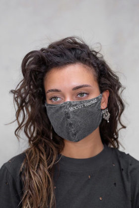 MOOST Wanted Face Mask Gray