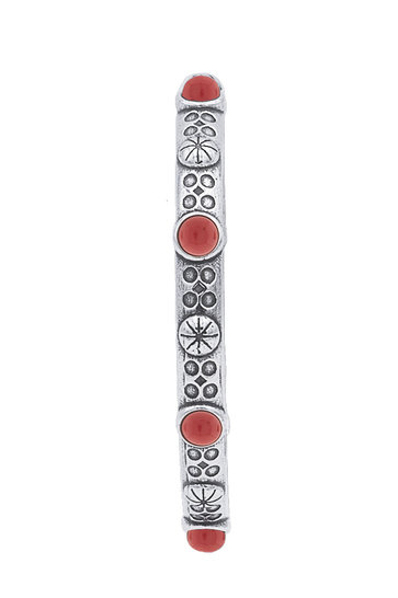 Armband Jonc Indian Red Silver