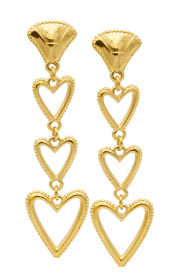 Earrings Riviera Moyen Gold