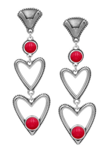 Pendientes Carmen Indian Red Silver