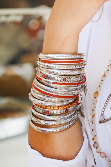 Armband Edles indisches rotes Silber