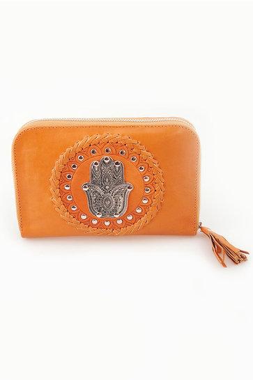 Brieftasche Aphrodite Cognac