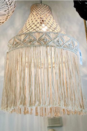 Crochet Lampshade Rajut Ecru