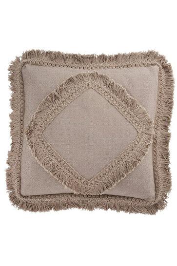 Throw pillow Fringe Cotton