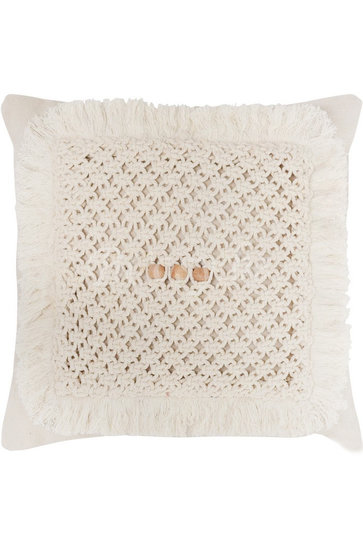 Throw Pillow Crocheted Cotton