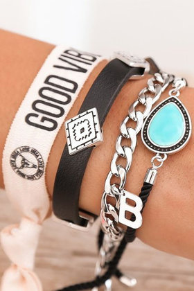 Bracelets Set Good Vibes Turquoise