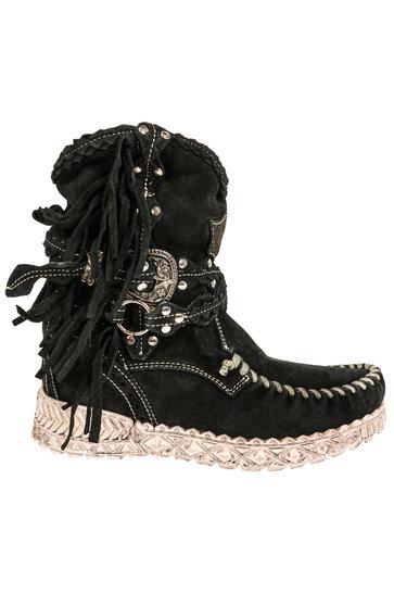 Arya Silverstone Carbon Boots Black