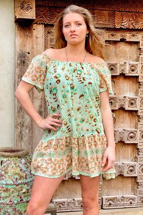 Vestido corto Flo Mint