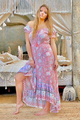 Robe longue Cara Pink Peach