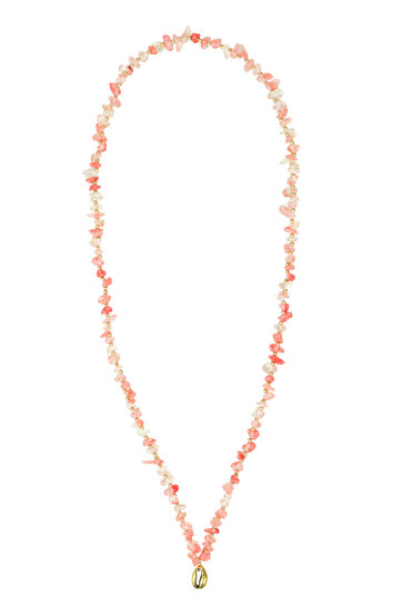 Necklace Indy Lang Light pink