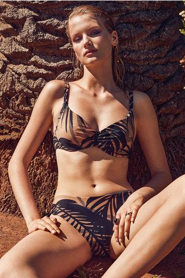 Conjunto de Bikini con Aros Fara Beige
