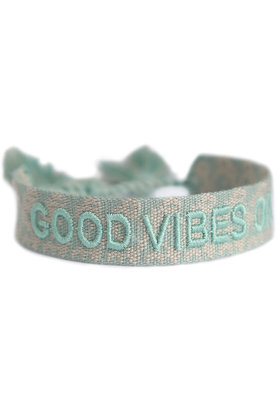 Pulsera Good Vibes Only Mint