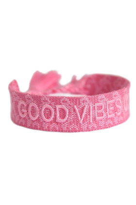 Armband Good Vibes Only Roze