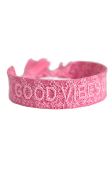 Armband Good Vibes Only Rosa