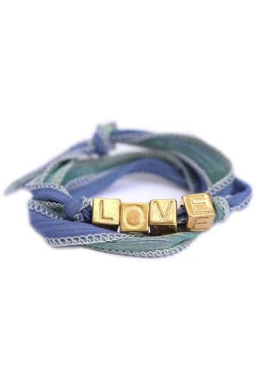 Bracelet Wrap Love Wrap Vert de mer