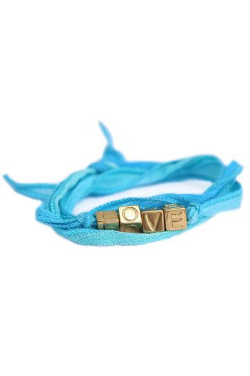 Wikkelarmband Love Wrap Blauw