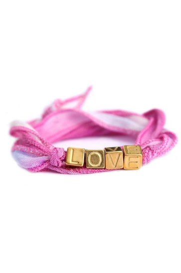 Wickelarmband Love Wrap Pink