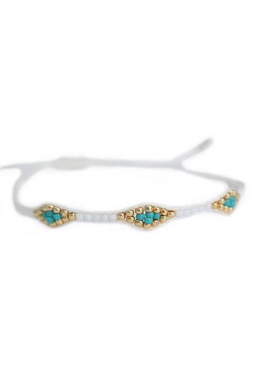 Bracelet Miyuki Ibiza Blanc
