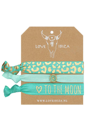 Set of Rubber bands Moon Love