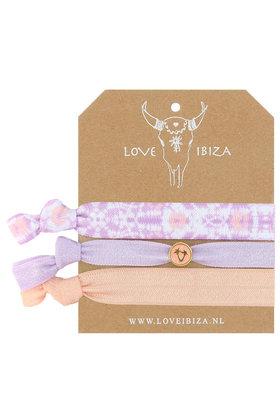 Satz Gummibänder Tie Dye Lilac