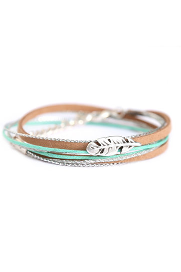 Armband Feather Wrap Mint