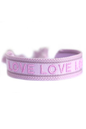 Geweven Armband Love Lila