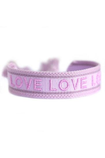 Bracelet Tissé Amour Lilas