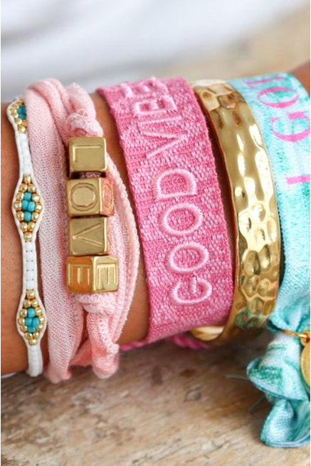 Armbänder Set Love Pink