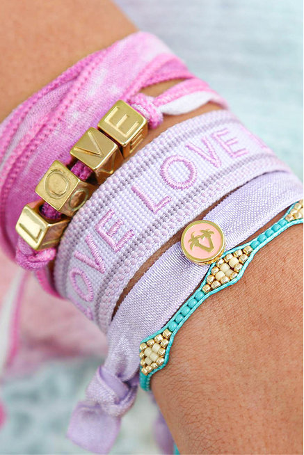 Armbänder Set Summer Love Lila