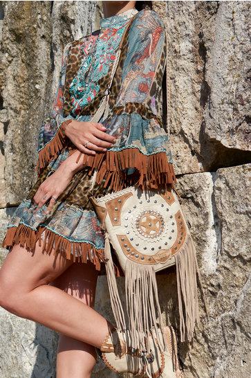 Spring Tribal Elfenbein Tasche