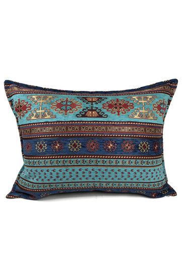 Throw pillow Peru Turquoise Blue 50x70cm