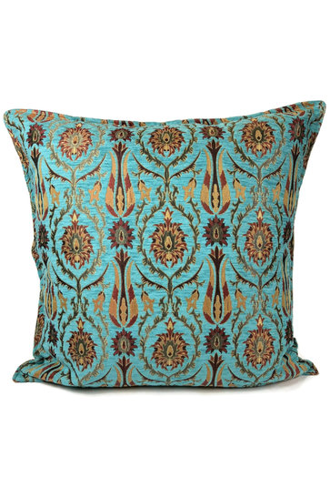 Throw pillow Tropical Flower Turquoise 70x70cm