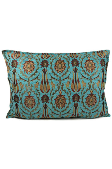 Throw pillow Tropical Flower Turquoise 50x70cm