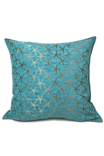 Throw pillow Starfish Bronze Turquoise 70x70cm